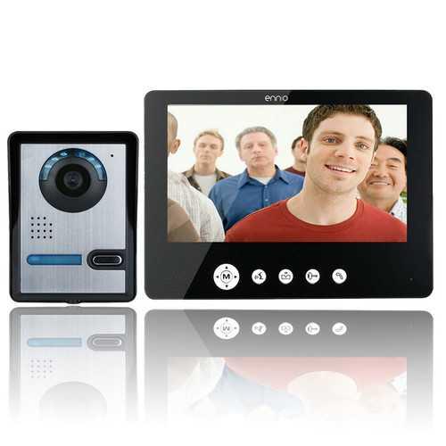 ENNIOSY905FA11 9 Inch Video Door Phone Doorbell Intercom Kit with IR Night Vision Camera and Monitor