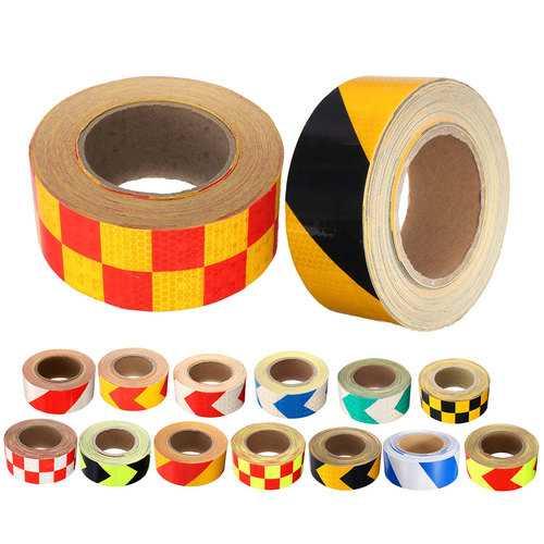 50mm x 20m Stripe Safety Reflective Self Adhesive Warning Tape Sticker