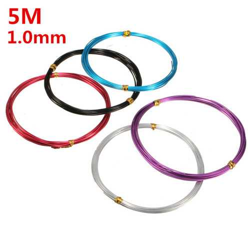 1.0mm Aluminum Wire Craft Art Oxidation Cable DIY Tools 5 Meter