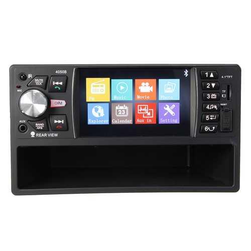 bluetooth 4.1 Inch TFT Car MP5 Player 2 DIN In Dash Rear View Camera HD AUX TF USB