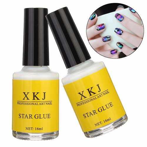 White Glue Nail Art Transfer Tips Adhesive Galaxy Star Foil Sticker 16ml