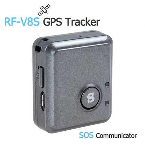 RF-V8S Mini Remote Listening GPS Tracker GSM GPRS Tracking Device & SOS Communicator