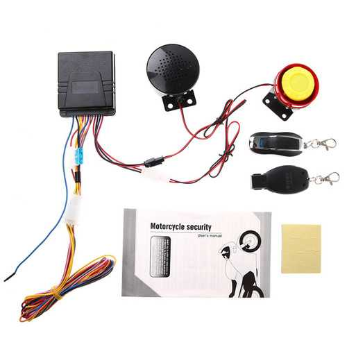 FEYCH Motorcycle Motor Bike Scooter Anti Theft Security Remote voice Alarm
