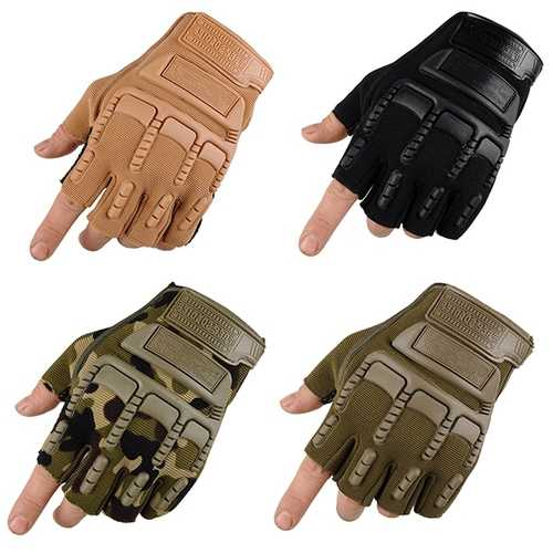 Free Soldier Half Finger Gloves Tactical Outdoor Antiskid Sport Cycling Motorcycle