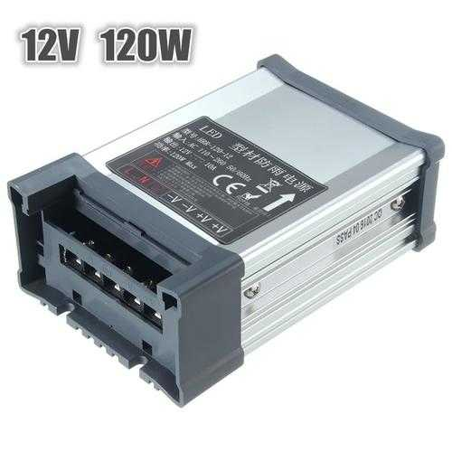 IP65 Waterproof AC 100V-264V To DC 12V 120W 10A Switching Power Supply Driver Adapter