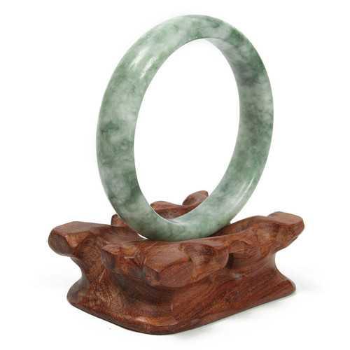 Chinese Green Jade Gemstone Bangle Bracelet Jewelry