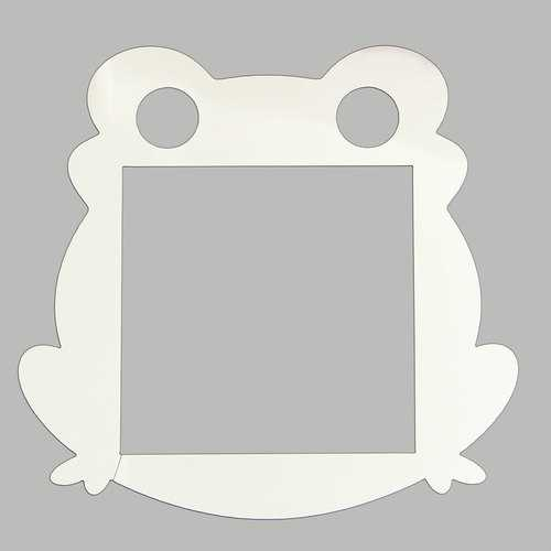 4pcs Silver Frog Light Switch Surround Sticker Cover Vinyl Wall Skin
