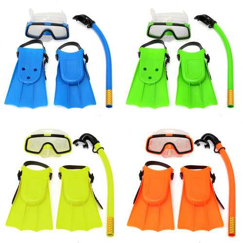 Junior Children Snorkeling Set Diving Mask Goggles Flippers Scuba Swimming Diving Kids Set