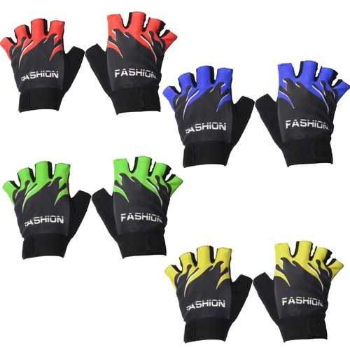 Motorcycle Cycling Half Finger Gloves Sport Mountain Bike Antiskid 4 Colors