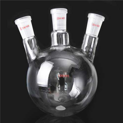 1000ml 3 Neck 24/40 Round-bottomed Fask Glass Flask Laboratory Boiling Vessel Bottles