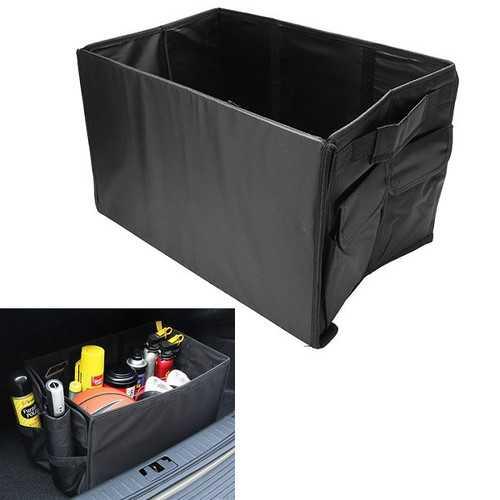 49X29X30cm Oxford Cloth Collapsible Car Storage Box Trunk Storage Compartment