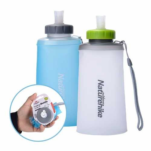 Naturehike Silicone Folding Water Bottle Outdoor Sports Soft Cup Portable Drinking Bag