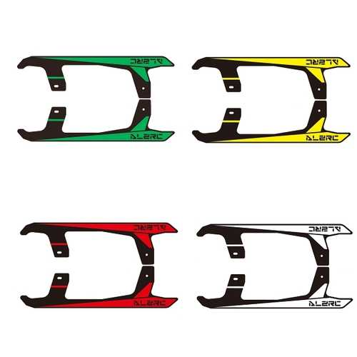 ALZRC Devil 380 FAST RC Helicopter Parts Carbon Landing Skid Sticker