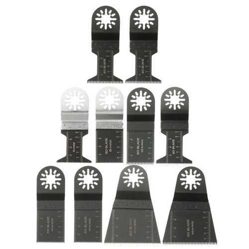 10pcs Mix Saw Blade Set Oscillating Multitools for Fein Multimaster Bosch Einhell Makita