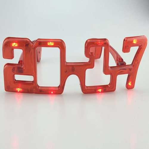 2017 Flashing LED Glasses Night Light for Masquerade Mask Party
