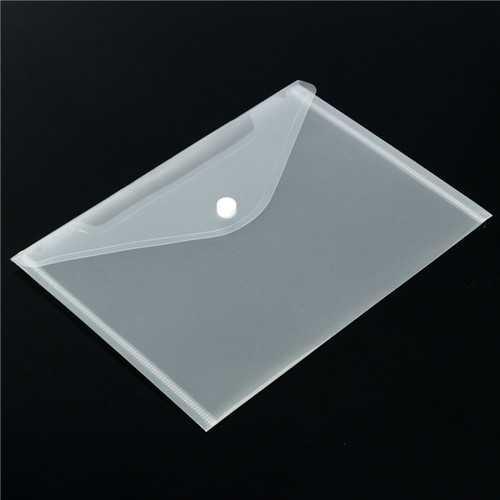 12pcs Transparent Plastic A5 Paper Files Holder Filing Bag