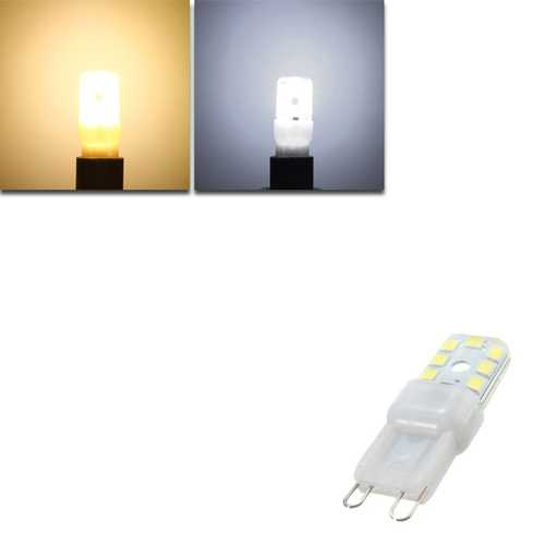Dimmable G9 2W LED Warm White Pure White 14 SMD 2835 225Lm Light Lamp Bulb AC220V