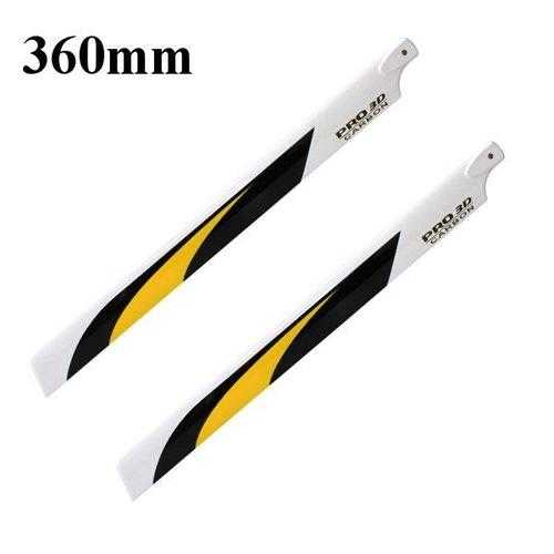 Dynam 360mm Carbon Fiber Main Blade for Electric 480/450L Helicopter Pro.3601