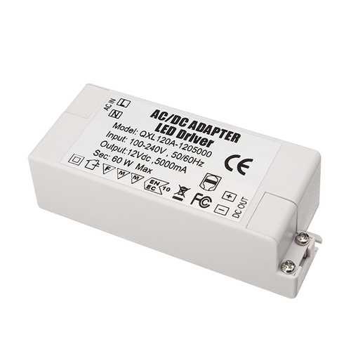AC100-240V To DC12V 5A 60W LED Power Supply Lighting Transformer Adapter Driver For Strip Light Lamp