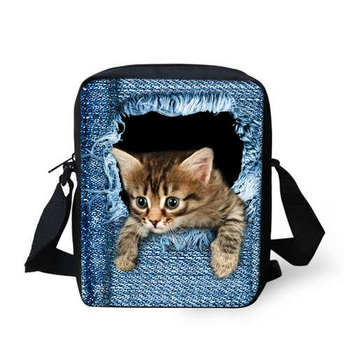 Kids Polyester Cat Dog Outdoor Small Shoulder Crossbody Bag