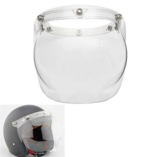 Bubble Shield Face Mask Clear Visor & Base for Vintage Open Face Helmet