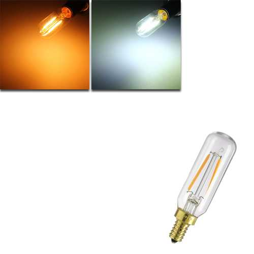 Dimmable E12 T25 2W LED White Warm White COB Retro Vintage Edison Filament Light Bulb AC110V