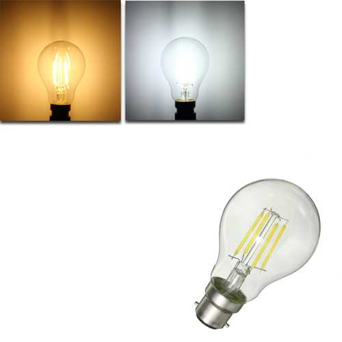 Dimmable B22 G45 4W Pure White Warm White COB Retro Vintage Edison Incandescent Light Bulb AC220V