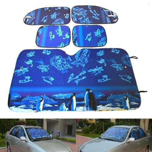 Aluminum Foil Foldable Reflective Car Wind Shield Shade Sun Block Protection