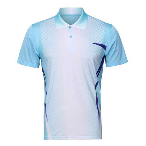 Mens Colorful Quick Drying Sports Running Gym T-shirts Breathable Slim Short Sleeve T-shirt