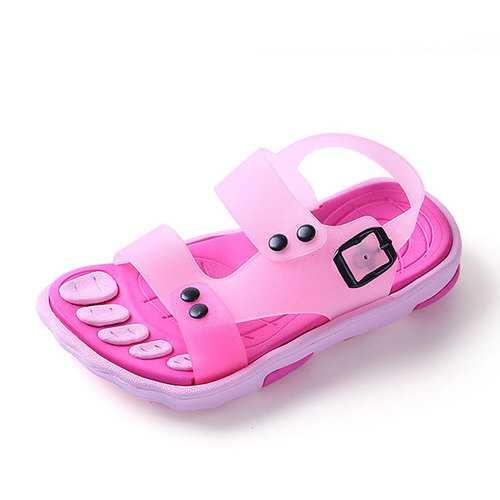 Boys Girls Summer Beach Sandals Children Slip Resistant Wear-resistant Shoes Kids Slippers