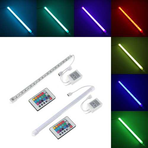 30CM RGB SMD 5050 LED Aluminum Alloy Shell Under Cabinet Lamp Strip Hard Rigid Light Tube Bar DC12V