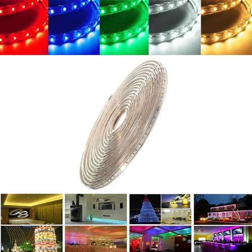 7M 24.5W Waterproof IP67 SMD 3528 420 LED Strip Rope Light Christmas Party Outdoor AC 220V