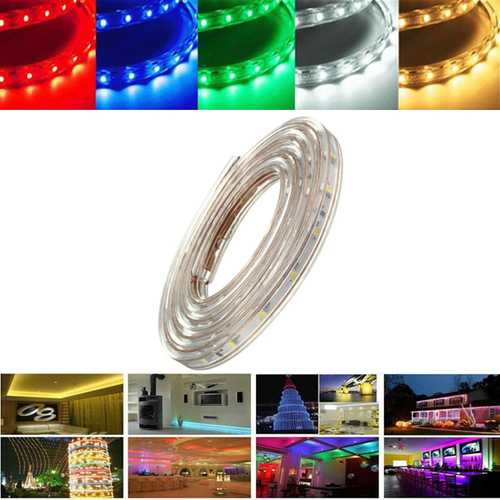 5M 17.5W Waterproof IP67 SMD 3528 300 LED Strip Rope Light Christmas Party Outdoor AC 220V
