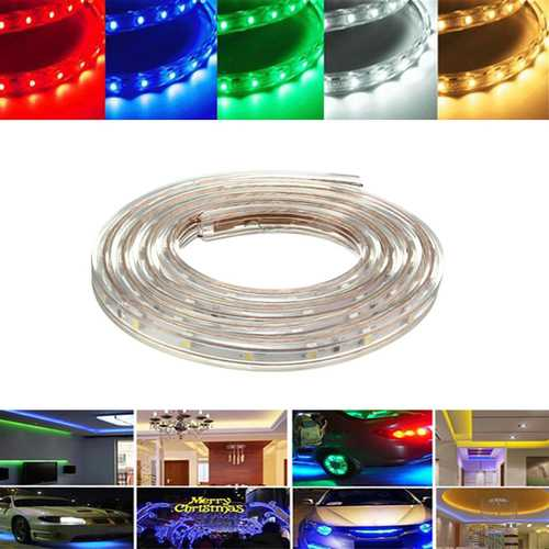 2M 7W Waterproof IP67 SMD 3528 120 LED Strip Rope Light Christmas Party Outdoor AC 220V