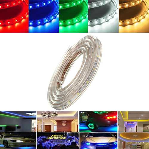1M 3.5W Waterproof IP67 SMD 3528 60 LED Strip Rope Light Christmas Party Outdoor AC 220V