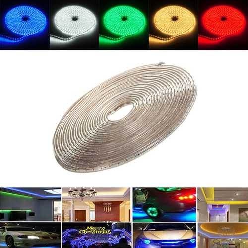 14M 49W Waterproof IP67 SMD 3528 840 LED Strip Rope Light Christmas Party Outdoor AC 220V