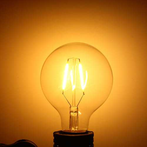 Dimmable E27 2W Warm White COB LED Filament Retro Edison Incandescent Light Bulb AC110V/220V