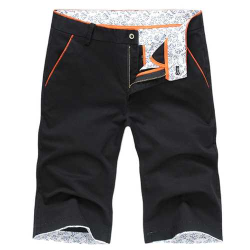 Summer Mens Casual Floral Trousers Cotton Knee-length Slim Fit Shorts 8 Colors