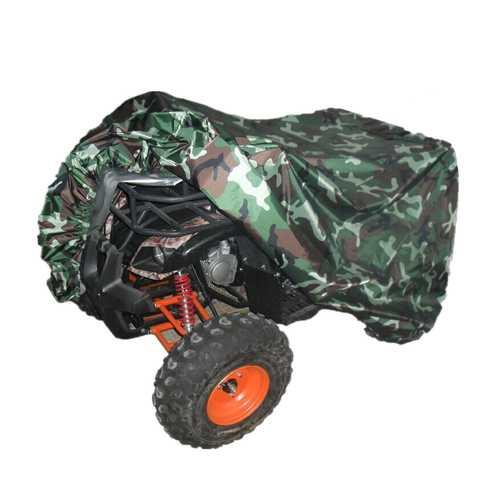 Quad Tractor ATV Cover Anti-UV Waterproof Heatproof Camouflage XL