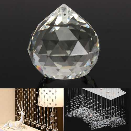 20MM Clear Crystal Ball Teardrop Faceted Chandelier Pendant DIY Home Decoration