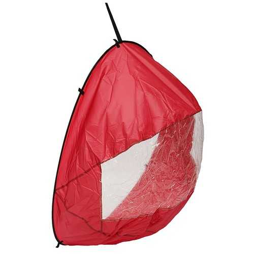 "42"" Downwind Wind Paddle Popup Kayak Canoe Wind Sail Kayak Accessories Portable Red"