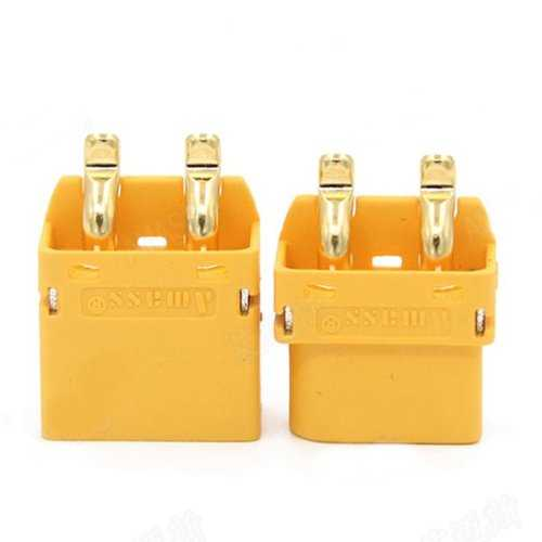 1 Pair Amass XT60PT 3.5mm Banana Connector Plug Male & Female For RC Battery