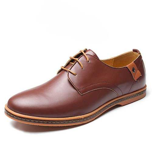 Large US Size 7.5-12 Men Business Shoes Flat Casual Soft Oxfords Shoes