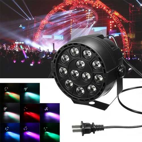 12W 12 LED RGB Stage Projector Light Bar Club DJ Disco Par Lamp