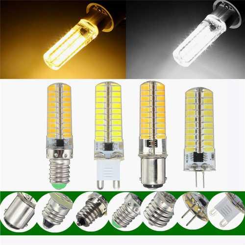 Dimmable E11 E12 E14 E17 G4 G9 BA15D 4W 80 SMD 5730 LED Pure White Warm White Light Lam Bulb AC220V