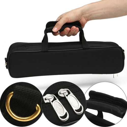 Flute Carrying Handbag Box Case With Side Pocket Adjustable Shoulder Strap