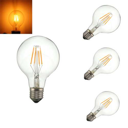 Dimmable G80 E27 4W COB Warm White 400Lumens Incandescent Edison Retro Light Lamp Bulb AC110V AC220V