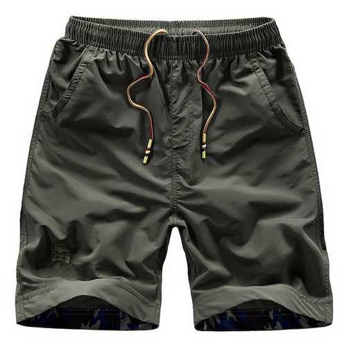 S-4XL Summer Mens Casual Quick Drying Military Style Loose Sports Knee-length Shorts