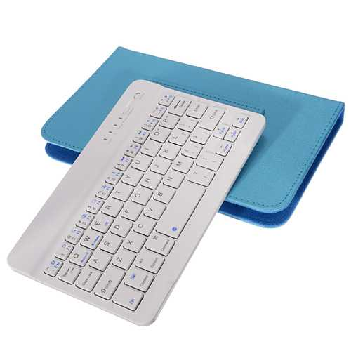Adjustable Buckle Wireless Bluetooth Keyboard Flip Holster Case for Samsung S6/S7 iPhone 6/6s