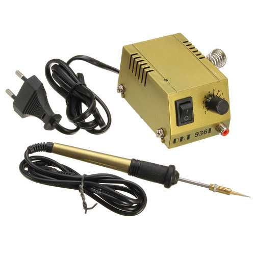 936I 220V 18W Thermostatic Electric Soldering Iron Mini Solder Station Anti-static